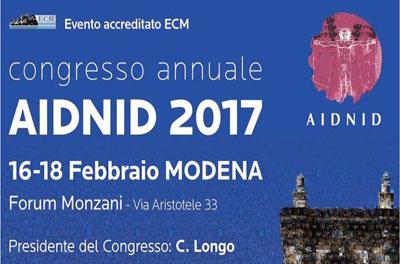 Congresso Annuale AIDNID – Modena 16-18 Febbraio 2017